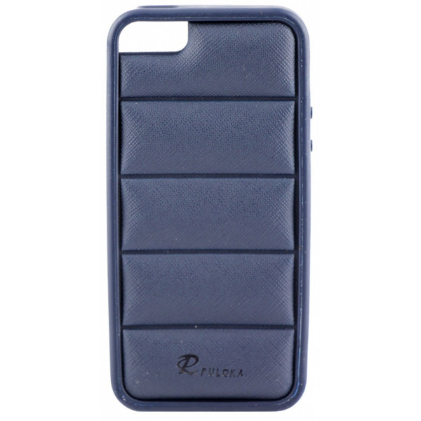 Чехол Накладка для iPhone  5/5S PULOKA (Синий) (Силикон)