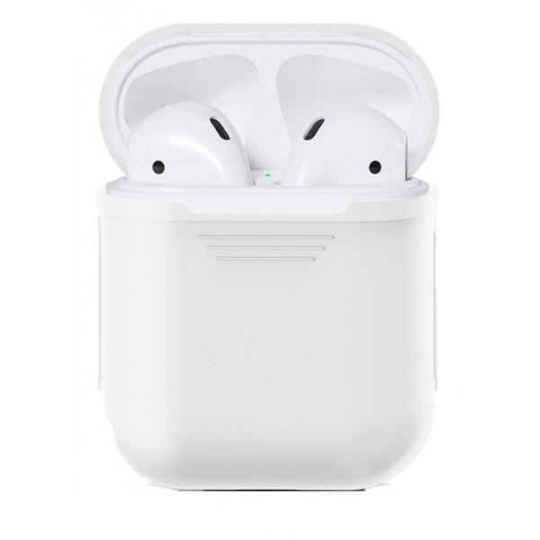 Чехол для AirPods Silicone Case (White)