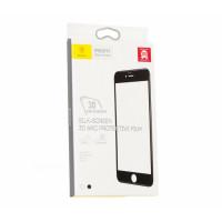 Защитое стекло iPhone 7 Baseus 0.3 mm Silk Screen Tempered Glass (Стекло) (Черный)
