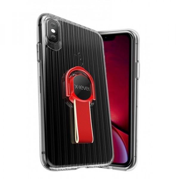 Чехол Накладка для iPhone Xs Max X-Level Suit Case (red)