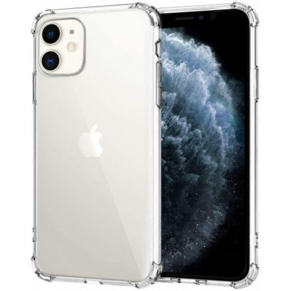 Чехол Накладка для iPhone 11 Simple Silicone Case (Transparent) (Полиулетан)