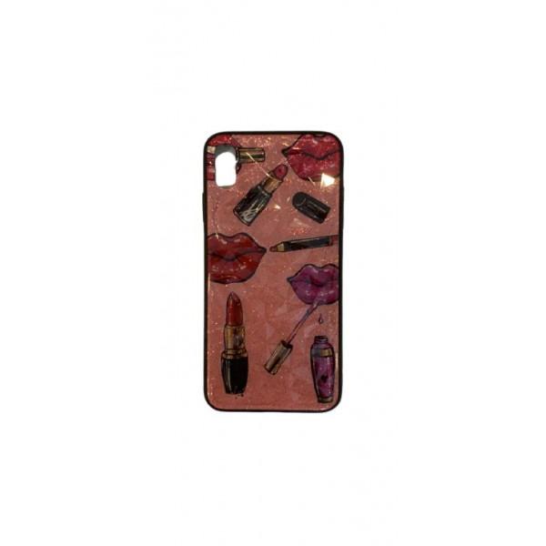 Чехол накладка iPhone Xs Max Rhombus (lipstick)