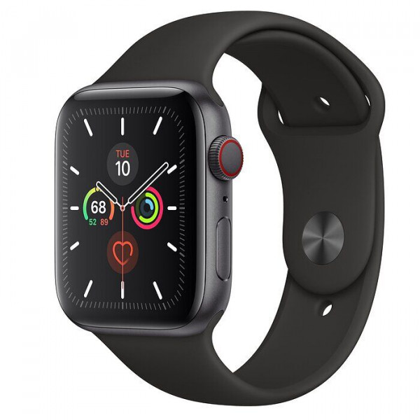 Apple Watch Series 5 LTE 44mm Space Gray Aluminum w. Black b.- Space Gray Aluminum (MWW12, MWWE2)