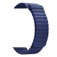 Ремешок-браслет для Apple watch 42mm leather midnight blue (Leather loop)