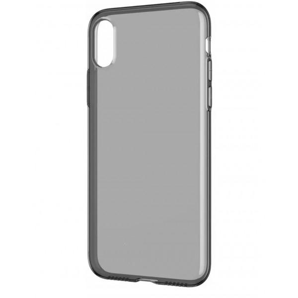 Чехол накладка iPhone Xs Max Baseus Simplicity Case (transparent black)