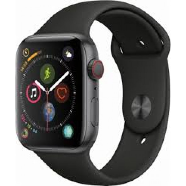 Apple Watch Series 4 GPS + LTE 44mm Gray Alum. w. Black Sport b. Gray Alum. (MTVU2)