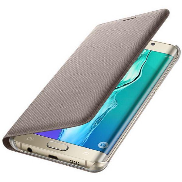 Чехол  книжка Original для Samsung S7 Edge Gold