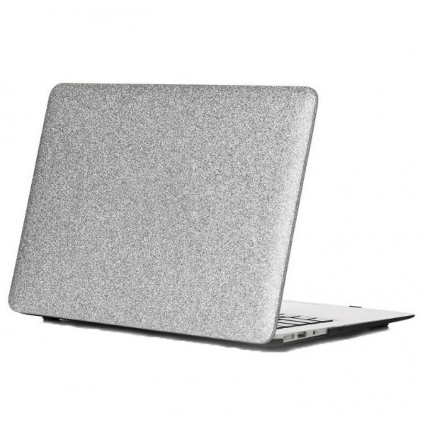 Чехол накладка MacBook Air 13 (2018-2020) DCC Picture Glitter (silver)