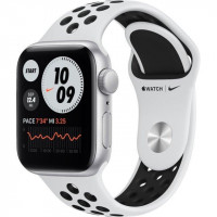 Apple Watch Nike SE GPS 40mm Silver Aluminum Case w. Pure Platinum/Black Nike Sport B. (MYYD2)