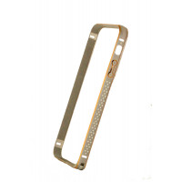 Бампер для iPhone 5/5S COTEetCL Claps D(Серебристый) (Алюминий)