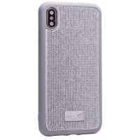 Чехол накладка iPhone XS Max The Bling World LCPC +TPU Case (silver)