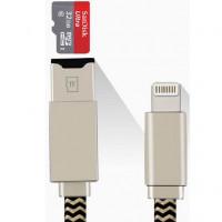Кабель iDragon USB-Lightning Card Reader