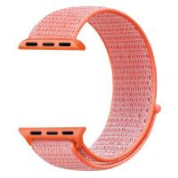 Ремешок для Apple Watch 38mm Nylon Sport Loop Band (Spicy Orange)