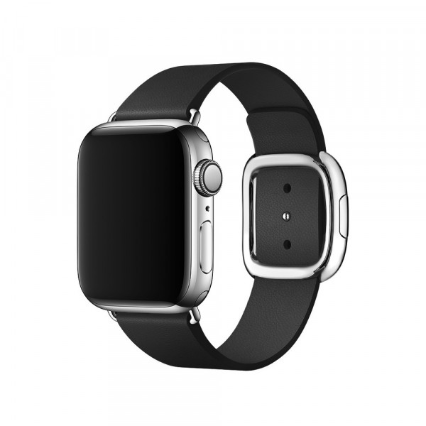Ремешок для Apple Watch 38mm/40mm Modern Buckle Leather Silver (black)