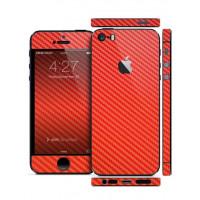 Защитная Пленка для iPhone 5/5S SLIMSKIN (360) (Красный) (Carbon)