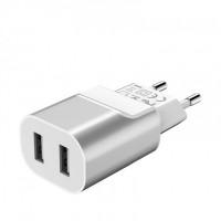 Сетевое зарядное устройство Hoco 2USB C47A 2,4A (silver)