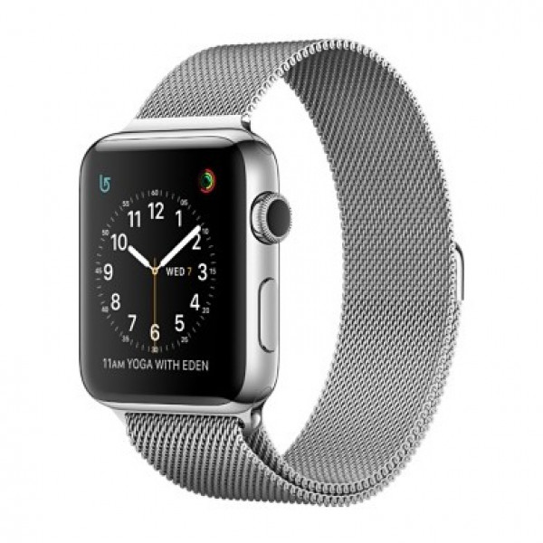 Apple Watch Series 2 38mm Stainless Steel Case with Milanese Loop Band (MNP62)