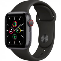 Apple Watch SE GPS + Cellular 40mm Space Gray Aluminum Case with Black Sport B. (MYED2, MYEK2)