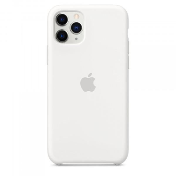 Чехол Накладка для iPhone 11 Pro Apple Silicon Case (White) (Полиулетан)
