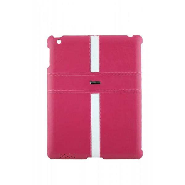 Чехол Накладка для iPad 2/3/4 i Mobo (розовый) (кожа)