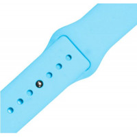 Ремешок-браслет для Apple Watch 38mm Silicone Band (sea blue)