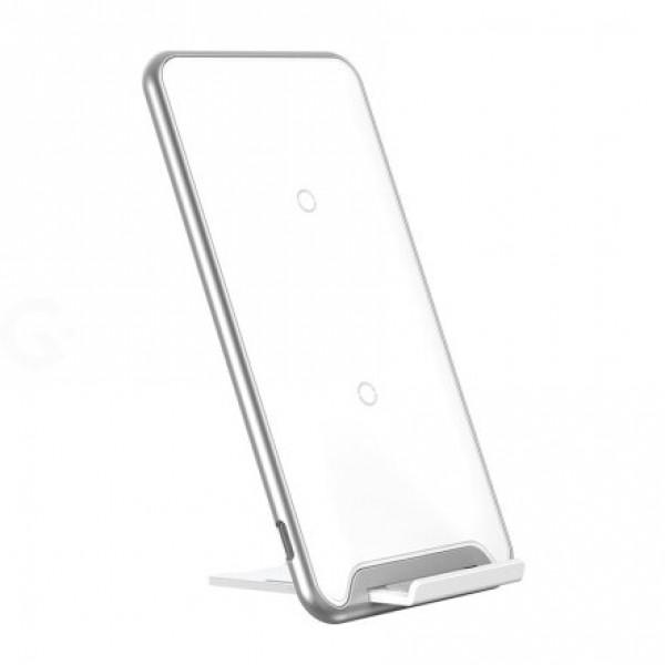 Безпроводное зарядное устройство Baseus Thre-coil Desktop Holder (White)