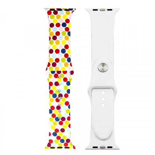 Ремешок-браслет для Apple Watch 42mm Silicone Sport Band picture (bubbles mix )