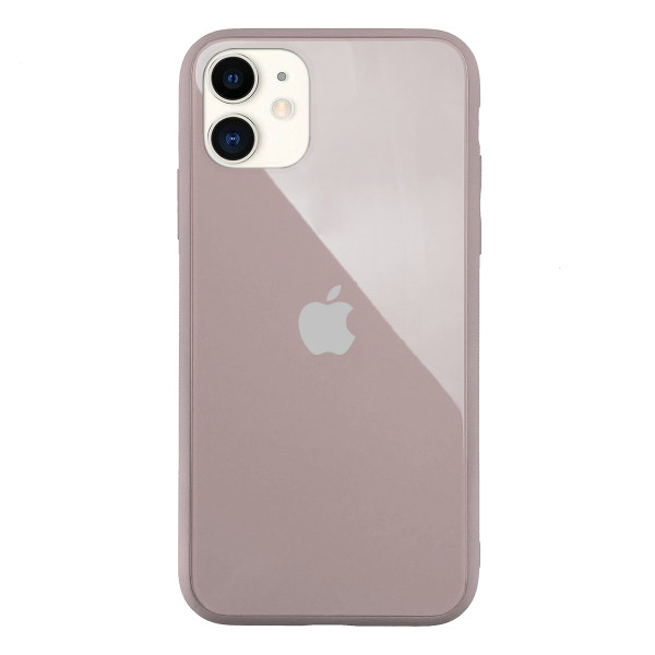 Чехол Накладка для iPhone 11 Glass Pastel color Logo (pink sand)