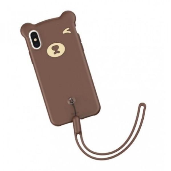 Чехол накладка iPhone Xs Max Baseus Bear  Case (brown)