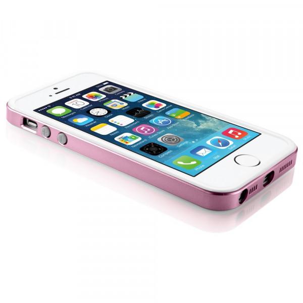 Бампер для iPhone 5/5S SGP Neo Hybrid EX (Розовый) (Пластик)