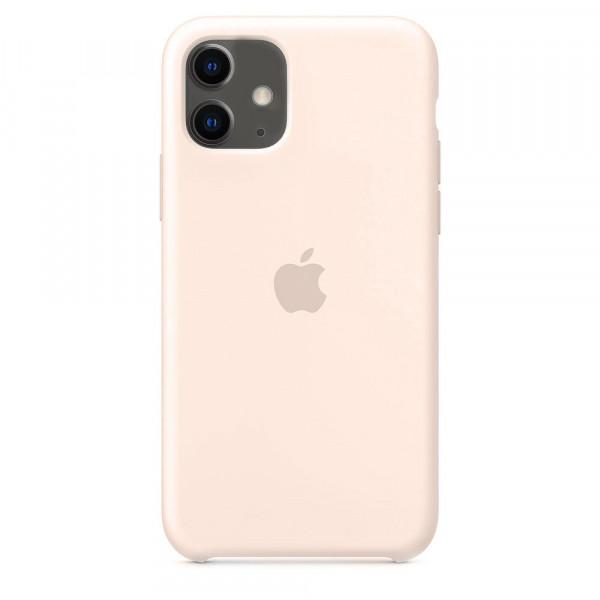 Чехол Накладка для iPhone 11 Apple Silicon Case (Pink Sand) (Полиулетан)