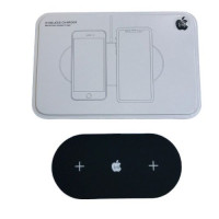 Беспроводная зарядка  Dual  2 in 1 Logo Apple metal