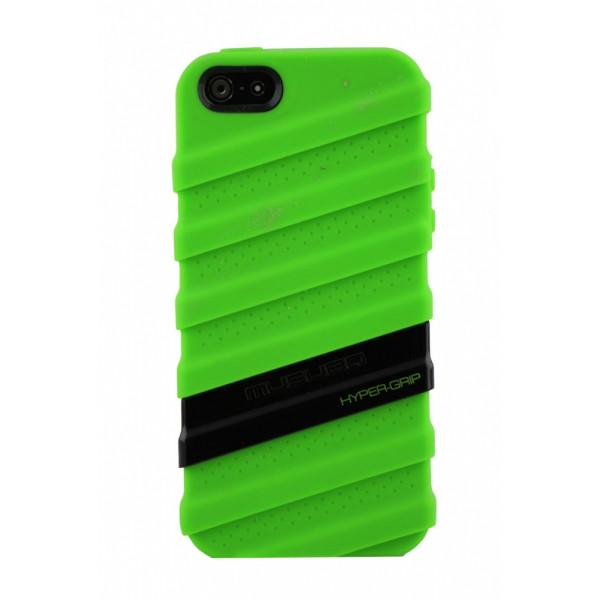Чехол Накладка для iPhone  5/5S MUSUBO HYPER-GRIP MYMMY (Зелёный) (Силикон)