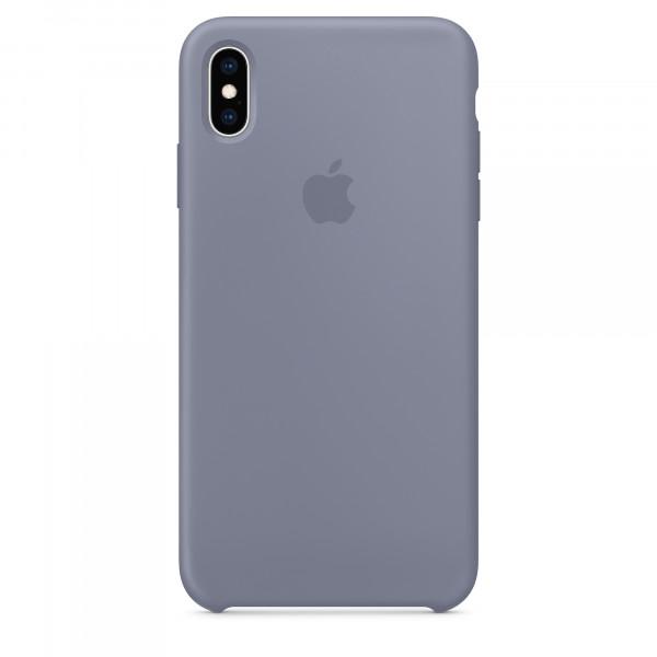 Чехол Накладка для iPhone Xs Max Apple Silicon Case (Lavender Gray ) (Полиулетан)