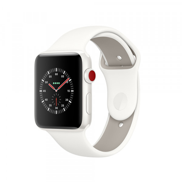 Apple Watch Edition GPS + Cellular 38mm White Ceramic/ Soft White/ Pebble Sport Band (MQJY2)