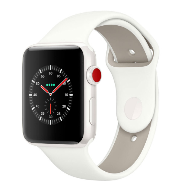 Apple Watch Edition GPS + Cellular 38mm White Ceramic/ Soft White/ Pebble Sport Band (MQM32)