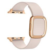 Ремешок для Apple Watch 42mm/44mm Modern Buckle Leather Gold (pink)