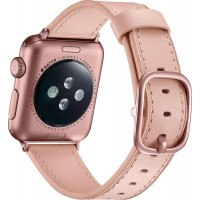 Ремешок для Apple Watch 38mm/40mm Leather Rivet Claps (pink)
