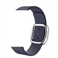 Ремешок для Apple Watch 38mm/40mm Modern Buckle Leather Silver (midnight blue)
