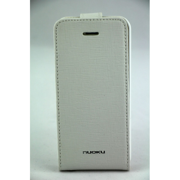 Чехол Флип для iPhone 5C NUOKU CRADLE (Белый) (Преcсованая кожа)