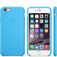 Чехол Накладка для iPhone 6 Apple Silicone Case High Copy (Синий) (Силикон)