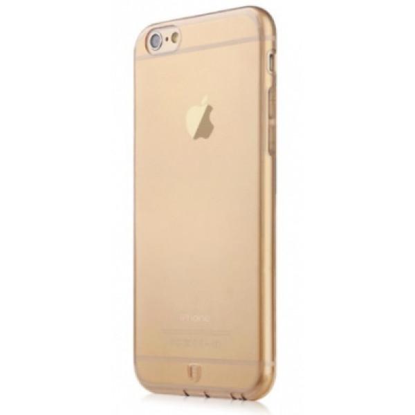 Чехол Накладка для iPhone 6/6S Baseus Simple Case (Золотой) (Силикон)