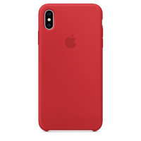 Чехол Накладка для iPhone Xs Max Apple Silicon Case (Red) (Полиулетан)