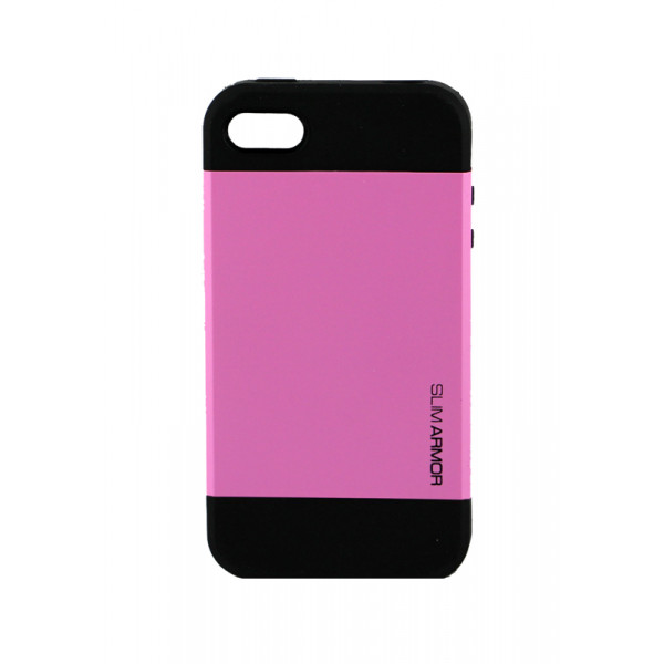 Чехол Накладка для iPhone 4/4S SGP SLIM ARMOR (Розовый) (Пластик)