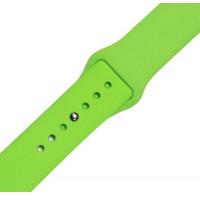 Ремінець-браслет для Apple Watch 38mm Silicone Band (Салатовий)