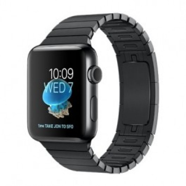 Apple Watch Series 2 42mm Space Black Stainless Steel Case with Space Black Link Bracelet Band MNQ02