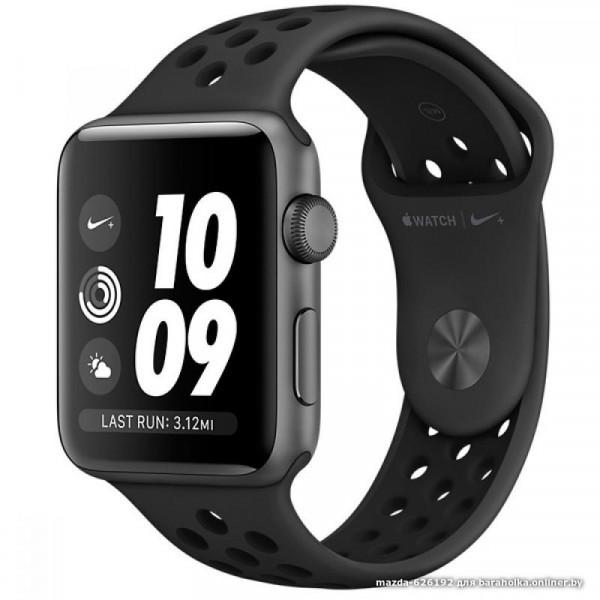 Apple Watch Nike+ Series 3 GPS 42mm Space Gray Aluminum w. Anthracite/BlackSport B. (MQL42)