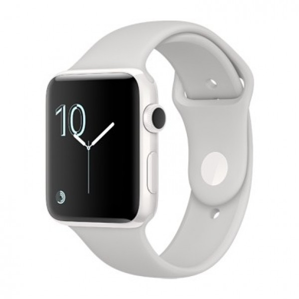 Apple Watch Edition 38mm White Ceramic Case with White Sport Band (MNPF2)