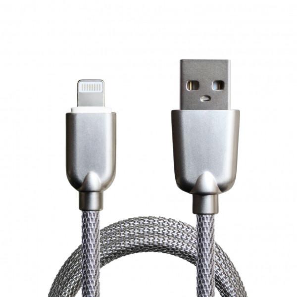 Кабель USB Lighthning Guke Silver усилинная оплетка