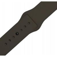 Ремінець-браслет для Apple Watch 38mm Silicone Band (cocoa)